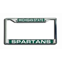 Michigan State Spartans Metal License Plate Frame