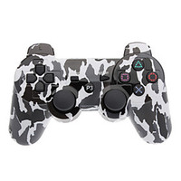 [NewYearSale]Black and White Camouflage Dual-Shock Bluetooth V4.0 Wireless Controller for PS3 - Default