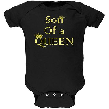 Mother's Day Son Of A Queen Soft Baby One Piece