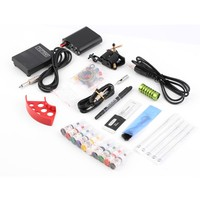 1 Set Complete Tattoo Kit with 10 colors of ink