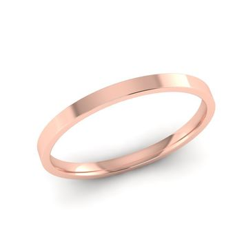 Narrow 14K Rose Gold Wedding Band, Promise Ring, 1.50mm Wide