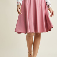 Just This Sway Midi Skirt in Carnation