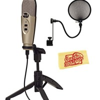 CAD U37 USB Condenser Microphone Bundle with Pop Filter and Austin Bazaar Polishing Cloth