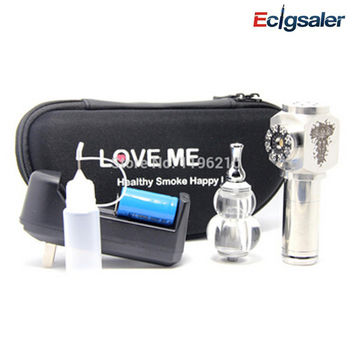 1pcs/lot Love Me 2014 hammer mechanical mod clone ecig hammer mod vapor cigarette with Gourd atomizer Zipper case kit