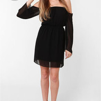 LULUS Exclusive Maiden Heaven Off-the-Shoulder Black Dress