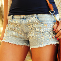 Don't Hold Back Shorts: Denim