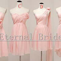 2013 Hot Sale Cheap Bridesmaid Dress/Strapless/ Sweetheart/Hater/ Assembly/On shoulder/Chiffon Short Bridesmaid dresses