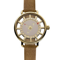 Vivienne Westwood Women's Women's Round Gold & Pink Dial Watch - Brown