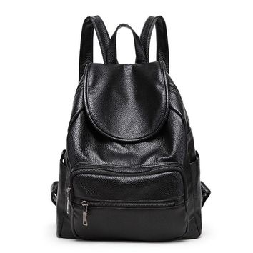 New Fashion Women Backpack Youth Vintage Leather Backpacks for Teenage Girls New Female School Bag