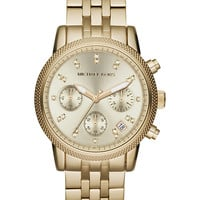 Michael Kors Women's Chronograph Ritz Gold-Tone Stainless Steel Bracelet Watch 36mm MK5676