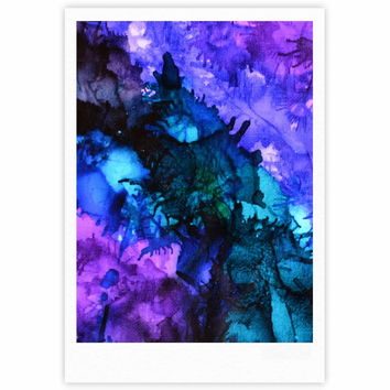 "Claire Day ""Soul Searching"" Blue Purple Fine Art Gallery Print"