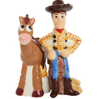 Disney Toy Story Woody And Bullseye Salt And Pepper Shakers