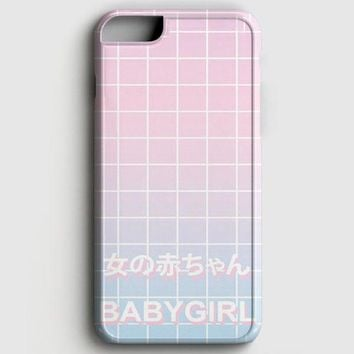 Babygirl Pastel Grid Aesthetics iPhone 6 Plus/6S Plus Case