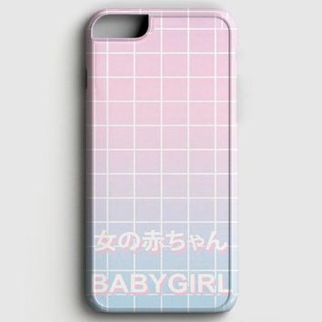 Babygirl Pastel Grid Aesthetics iPhone 6/6S Case