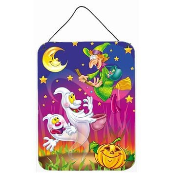 Witch and Ghosts Halloween Wall or Door Hanging Prints APH3799DS1216
