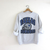 vintage Dallas Cowboys sweatshirt. cotton blend sweatshirt. blue and gray