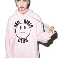 Nikki Lipstick Sad Girls Club Hoodie Pink One
