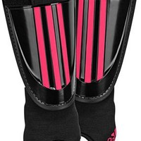 adidas Adi Club Shin Guard, Black/Fresh Pink, Small