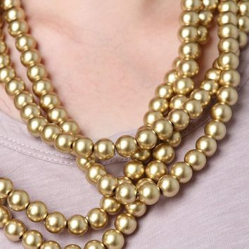 Vintage Extra Long Pearl Necklace