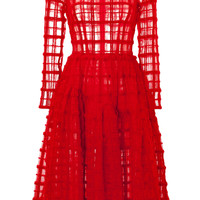Simone Rocha - Sheer Plaid Dress