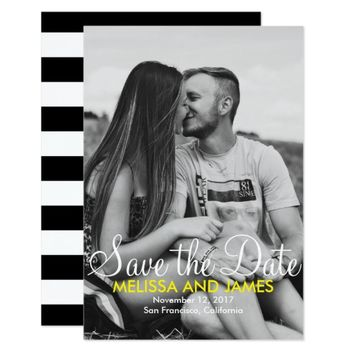 Black and White Photo Save The Date Announcement
