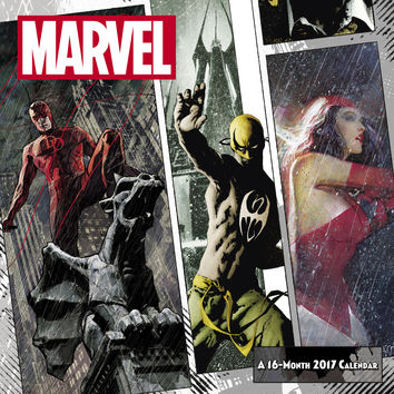 2017 Marvel Knights Wall Calendar