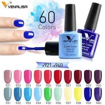 2018 Nail art supply newest Venalisa fashion uv gel polish 7.5ml soak off polish nail varnish lacquer painting design polish gel