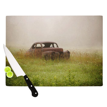 "Angie Turner ""Forgotten Car"" Grass Cutting Board"