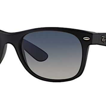 RAY BAN RB 2132 NEW WAYFARER MATTE BLACK POLARIZED