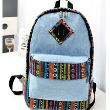 Comfort On Sale Hot Deal Back To School College Stylish Casual Summer Canvas Bags Backpack [8070740871]