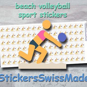 PLANNER STICKER    beach volleyball    sport    small colored icon   for your planner or bullet journal