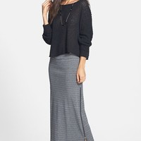 BP. Side Zip Cotton Maxi Skirt (Juniors)