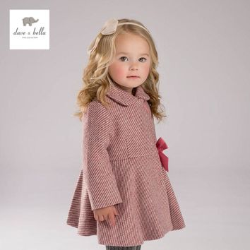 DB4060 davebella baby girls wool coat winter outerwear wool blends