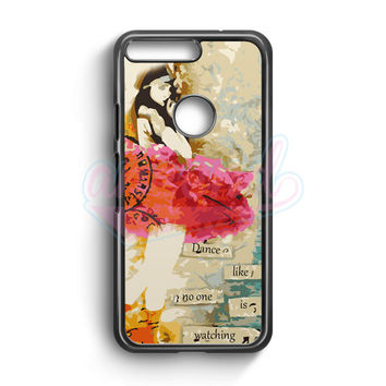 Dance Like No One Is Watching   Altered Art Collage Ballerina Google Pixel Case | aneend.com