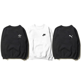 Nike, adidas, PUMA, and paragraphs in the autumn of thin round collar loose long-sleeved clothes