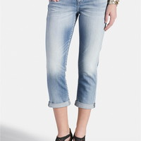 Silver Jeans ® Suki Light Wash Capri - Light Sandblast