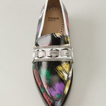 Toga Pulla Brush Print Loafers - B Store - Farfetch.com