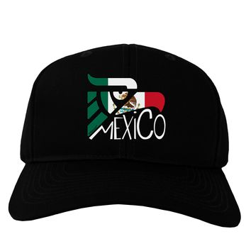 Mexico Eagle Symbol - Mexican Flag - Mexico Adult Dark Baseball Cap Hat by TooLoud