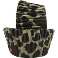 Regency Wraps Greaseproof Baking Cups, Brown Leopard, 40-Count, Standard.