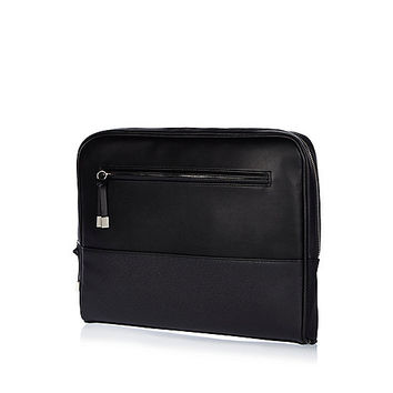 River Island MensBlack smart document holder