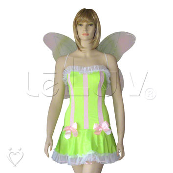 Roleplay Green Woodland Nymph Fairy Pixie Halloween Costume