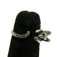 Mouse Ring Tiny Retro Rat Statement Mice RD42 Vintage Rodent Silver Tone Rat Fashion Jewelry