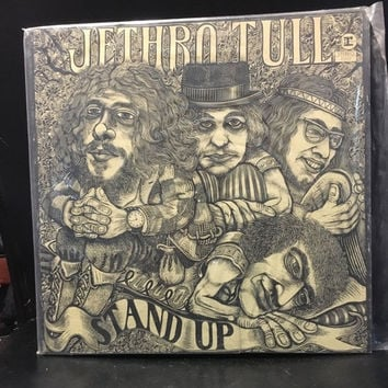 5 DAY SALE (Ends Soon) Vintage 1969 Jethro Tull Stand Up Vinyl Record Good Condition