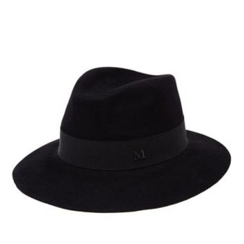 MAISON MICHEL | Classic Felt Andre Hat | brownsfashion.com | The Finest Edit of Luxury Fashion | Clothes, Shoes, Bags and Accessories for Men & Women
