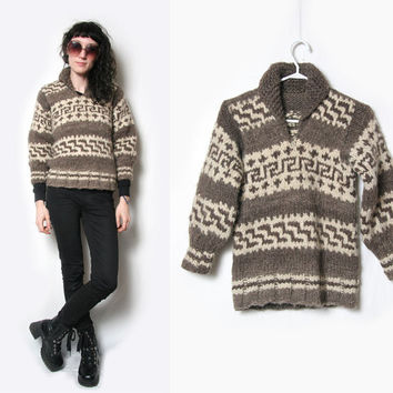 Vintage Cowichan Native American Sweater // Cowichan Pull Over Sweater // Cowichan Jacket