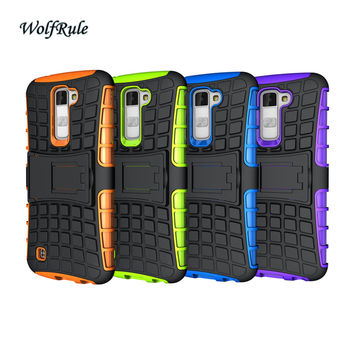 Case For LG K10 Cover Shockproof Silicone & Hard Plastic Case For LG K10 Lte K430DS K410 M2 Cell Phone Holder Stand Cover #<