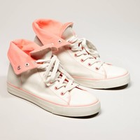 AEO Two-Tone High Top Sneaker   American Eagle Outfitters