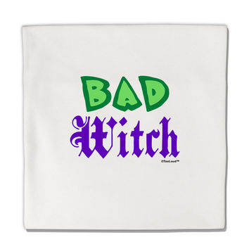 "Bad Witch Color Green Micro Fleece 14""x14"" Pillow Sham"