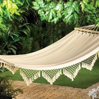 Unique Specialty Merchandise: Cape Cod Cotton Canvas Indoor Outdoor Hammock in PrestoMart