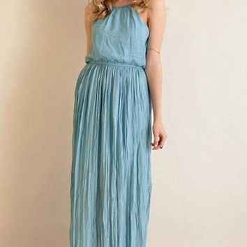 One in A Million Maxi Dress - Blue